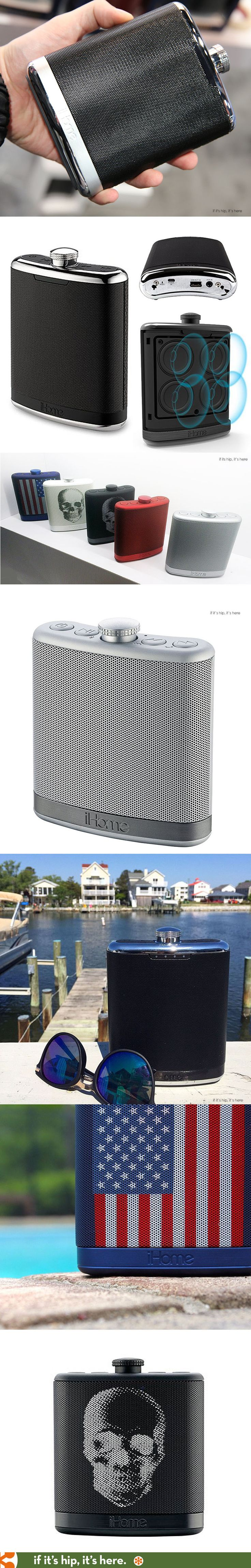 Looks like a flask, works like a speaker. #fathersday
