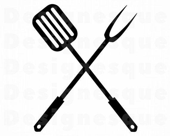 Bbq Logo Svg Bbq Svg Spatula Grill Grilling Bbq Clipart Etsy Grilling Art Bbq Grilling