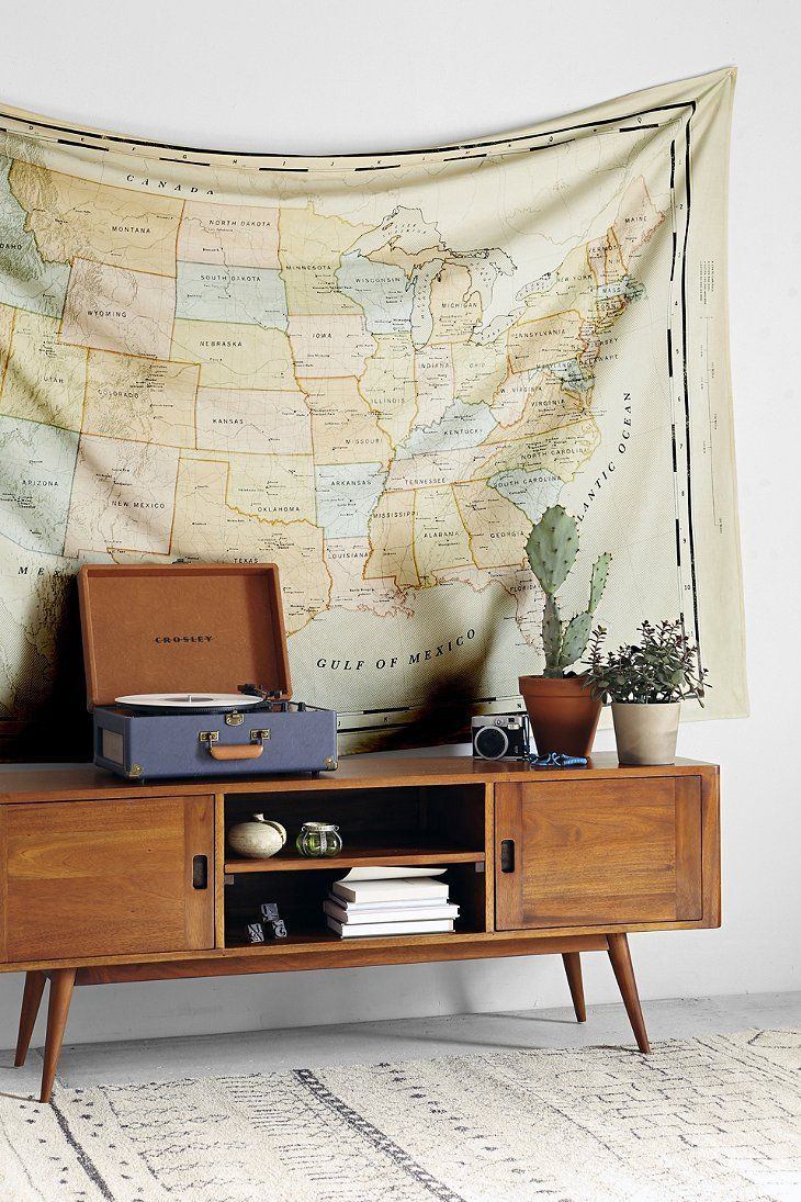 4040 Locust Vintage Map Tapestry #Pin_it @Mundo das Casas See more Here: www.mundodascasas