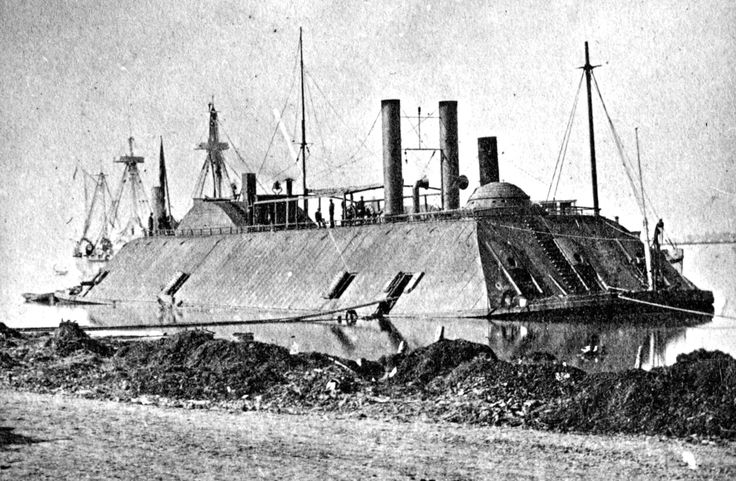 A March, 1863 photo of the USS Essex. The 1000-ton ironclad river gunboat, originally a steam-powered ferry, was acquired during the American Civil War by the US Army in 1861 for the Western Gunboat Flotilla. She was transferred to the US Navy in 1862 and participated in several operations on the Mississippi River, including the capture of Baton Rouge and Port Hudson in 1863. (LOC) #