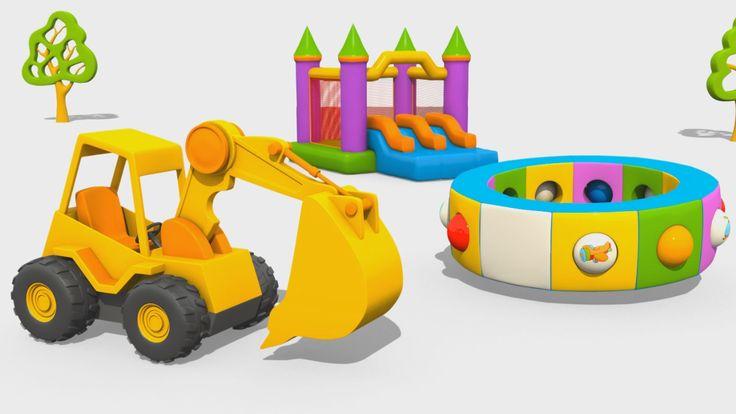 Cartoni Animati per Bambini - L'escavatore Max e la fantastica giostra: gli Aerei