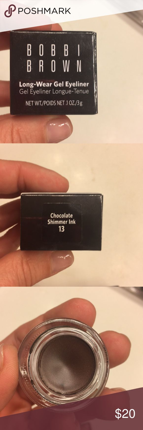 Bnib chocolate shimmer ink eyeliner Brand new in box Bobbi Brown gel eyeliner, chocolate shimmer ink. Full size. Makeup Eyeliner