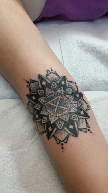 Mandala tattoo with circa survive safe camp logo my most prized tattoo.