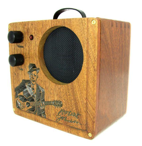 Cigar Box Amplifier: All Wood Custom Carved Robert Johnson No. 1  