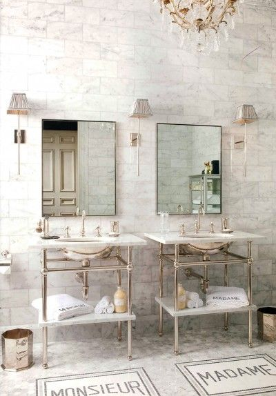 Marble, bathroom, I've always loved this floor.