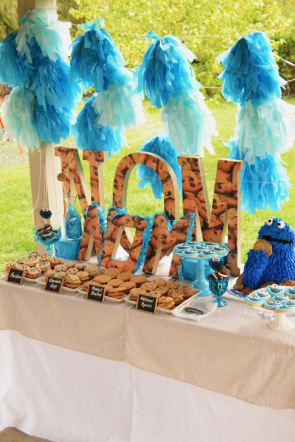 Cookie Monster Themed Birthday Party - Awesome!