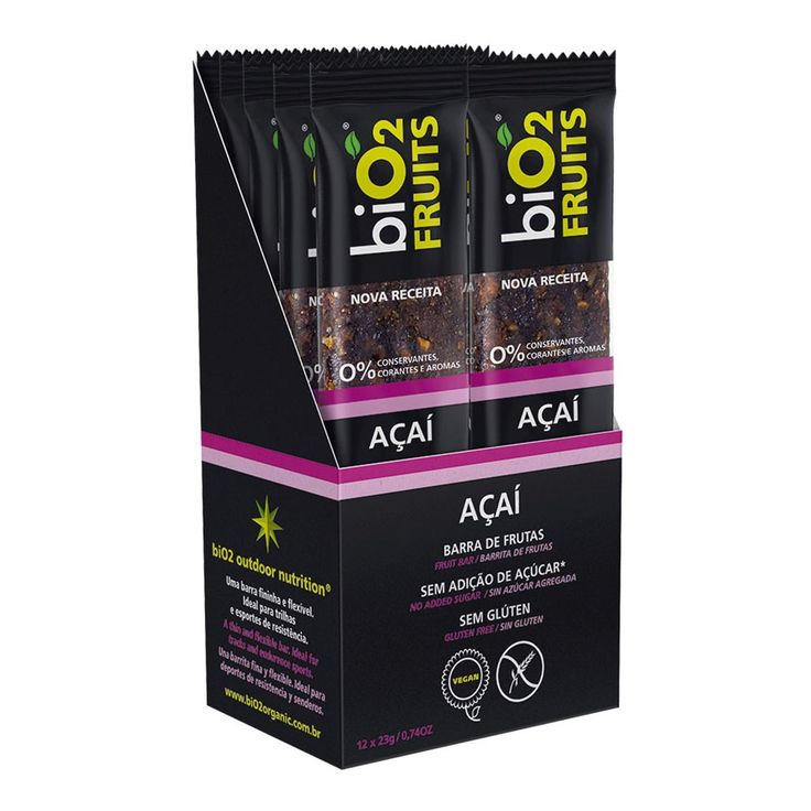 biO2 Fruits Acai 12 barras de 23g :: UniNatural