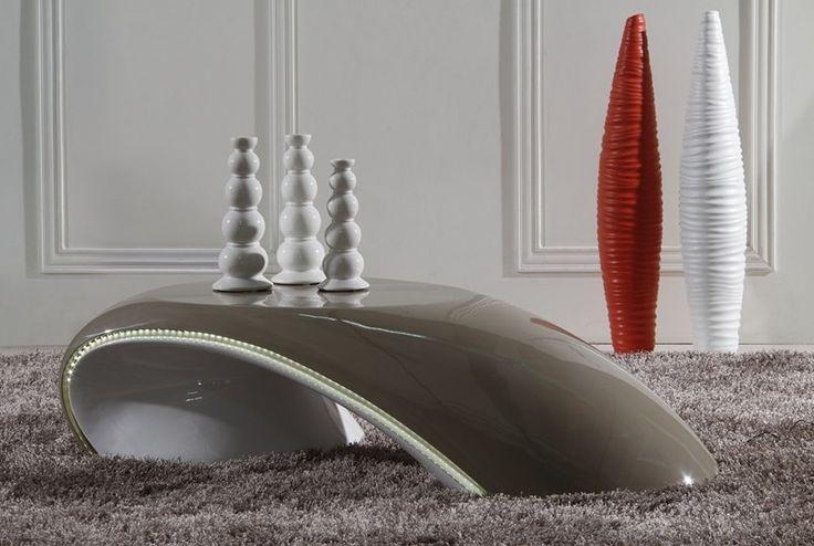 Table Basse Lumineuse ARC Fibre De Verre & Led Intégré