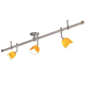 Nora NRS29-4201 with 4' Straight Rail and (3) Mercure Fixtures with Paris Glass  Item# NRS29-4201  Regular price: $356.88  Sale price: $249.81