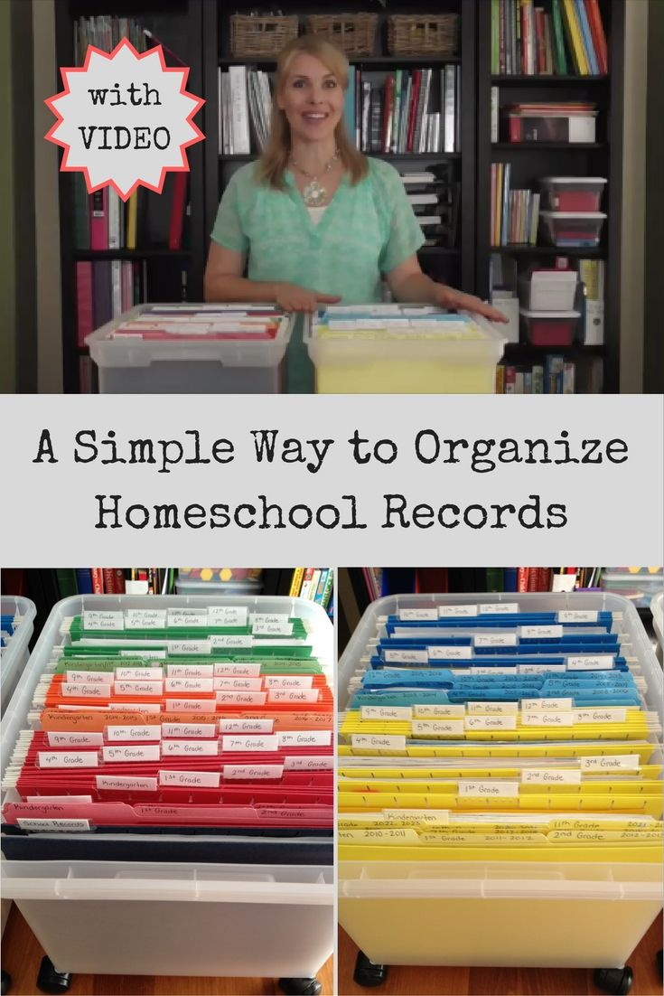 A Simple Way to Organize Homeschool Records with an instructional video and…