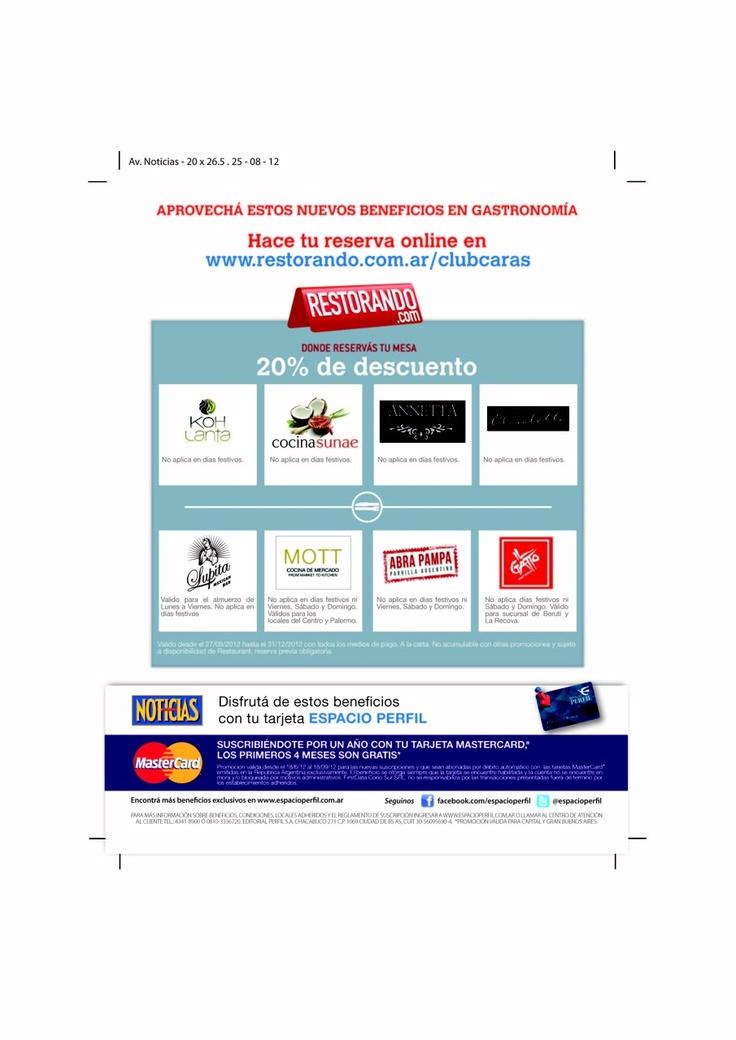 Publicación Revista Noticias del 1° de Septiembre de 2012