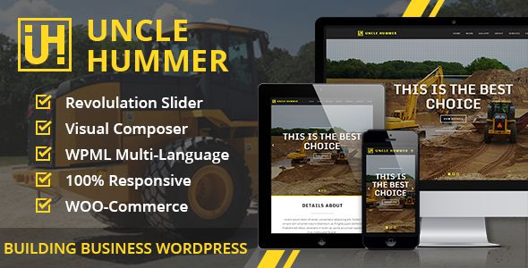 Uncle Hummer v2.1.3 – Responsive WordPress Building Theme:  Uncle Hummer is a robust WP theme that consists of latest features and powerful coding technologies. This flexible theme works amazing for showcasing your product-oriented, contraction, business, ship builders and other purpose website.