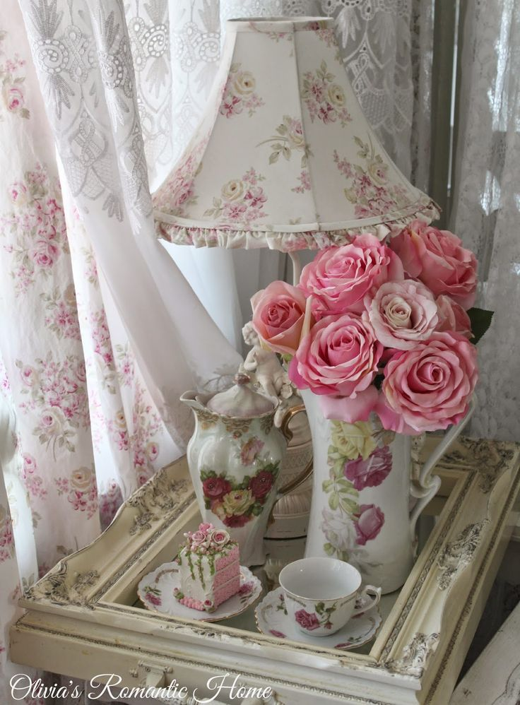 Pink Shabby Chic Dresser: 17 Best Images About Lovely ♥ Vignettes On Pinterest