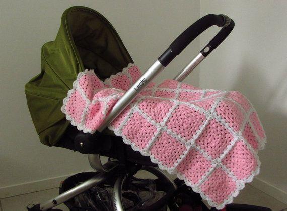 Crochet Baby Shawl Pink Baby Blanket Baby Girl Blanket Pink &