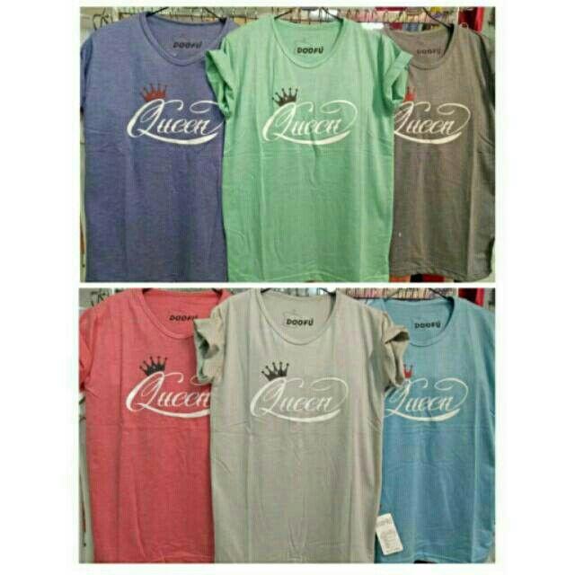Saya menjual Kaos wanita / kaos lengan pendek / queen tee / size allsize seharga Rp40.000. Dapatkan produk ini hanya di Shopee! https://shopee.co.id/ssfashionkaos/461442048 #ShopeeID