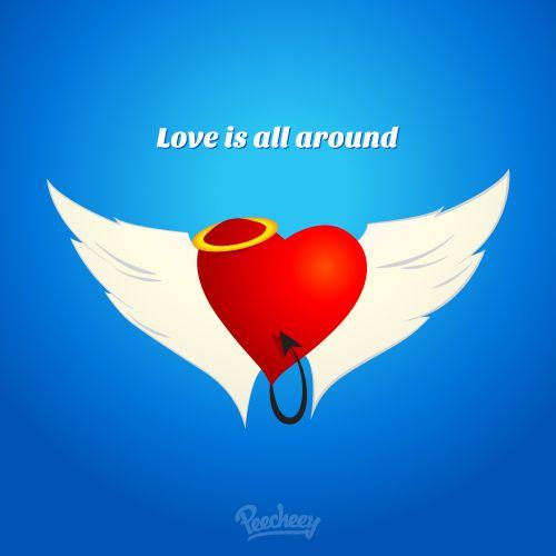 Love is all around illustration