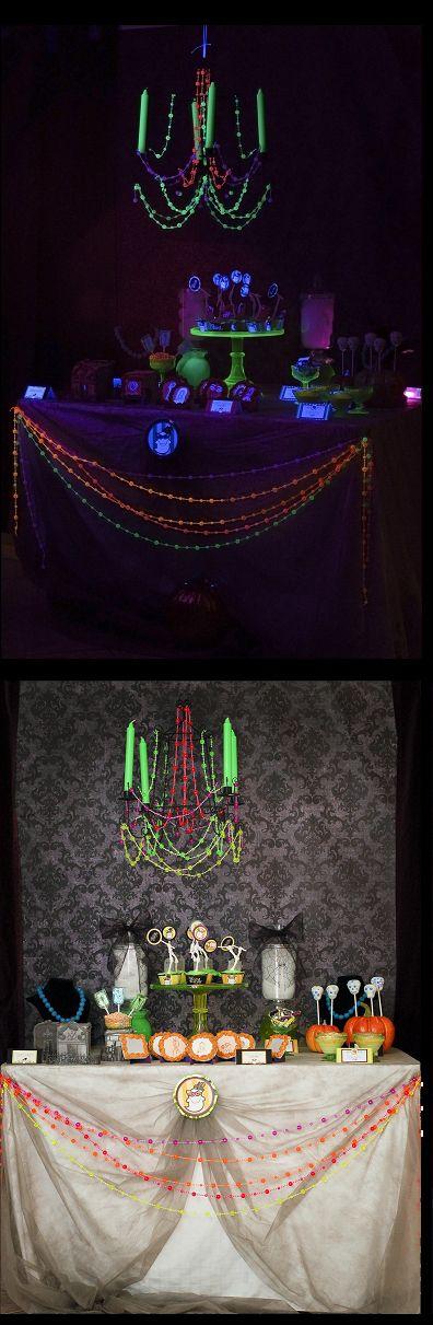 232 best halloween glow in the dark spooktacular halloween for Halloween dance floor ideas