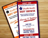 love this idea.....Baseball baby shower invitation - baseball baby shower boy invite- DIY baseball ticket boy couples shower sports printable decorations. $18.00, via Etsy. #party #baby_shower