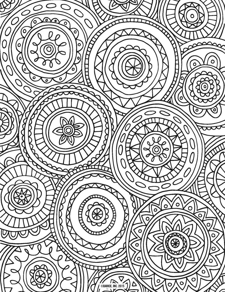 9 free printable adult coloring pages - Pattern Coloring Books