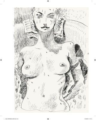 Regarde moi, Joann Sfar, 2014, encre de Chine sur papier.