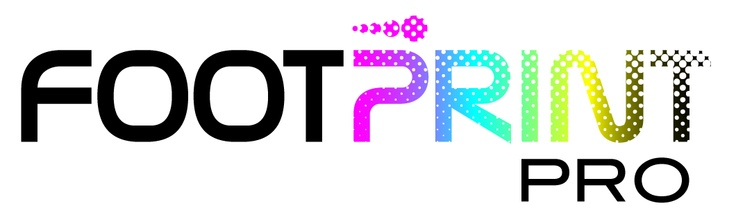 Footprint Pro Logo. Print Management Software. www.tonyjohnsoncreativedesign.co.uk (please visit and hit 'like' below me on the chair!)