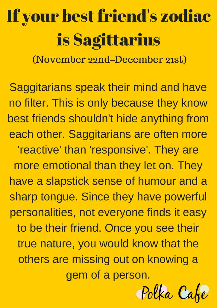 Sagittarius- Get To Know Why You Can't Do Without Your Bestie By Decoding Her Zodiac
