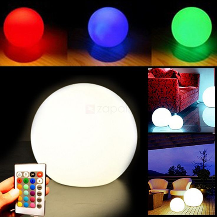 [ $17.99 ] 20CM Remote Control Orb-shaped LED Floating Pool Light