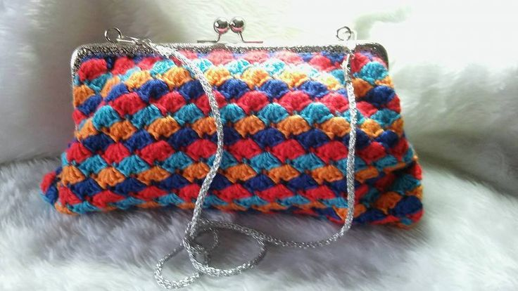 Multi Coloured Clutch Bag by Aspirations1805 on Etsy