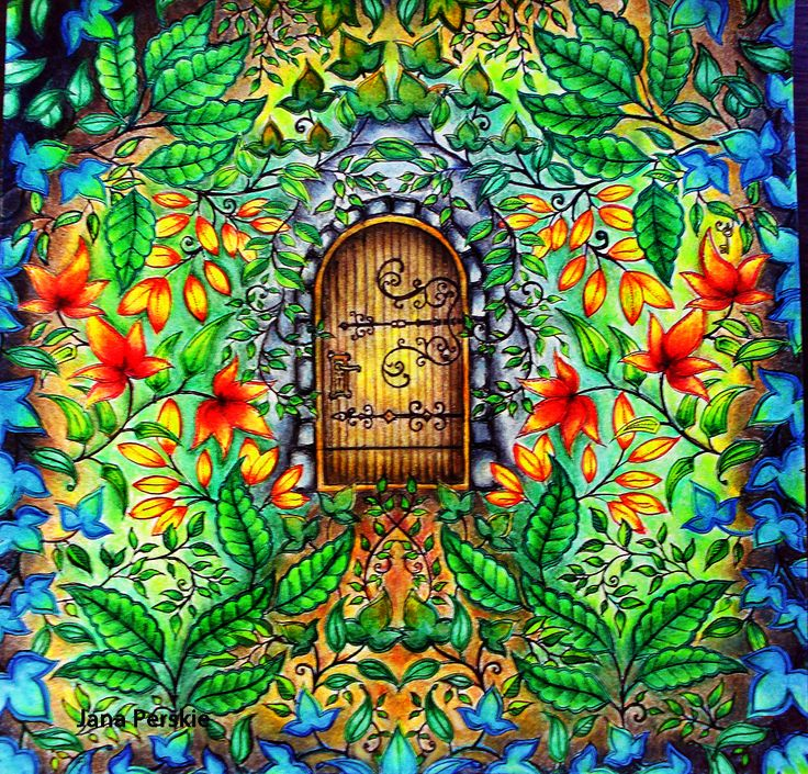 The Secret Garden Coloring Book Door
