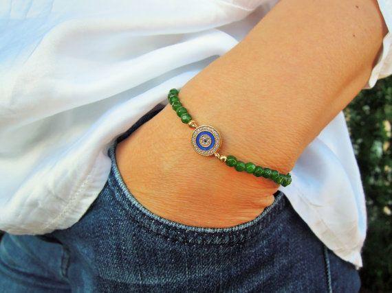 Turkish Eye Bracelet Best Friend JewelryGold by ebrukjewelry