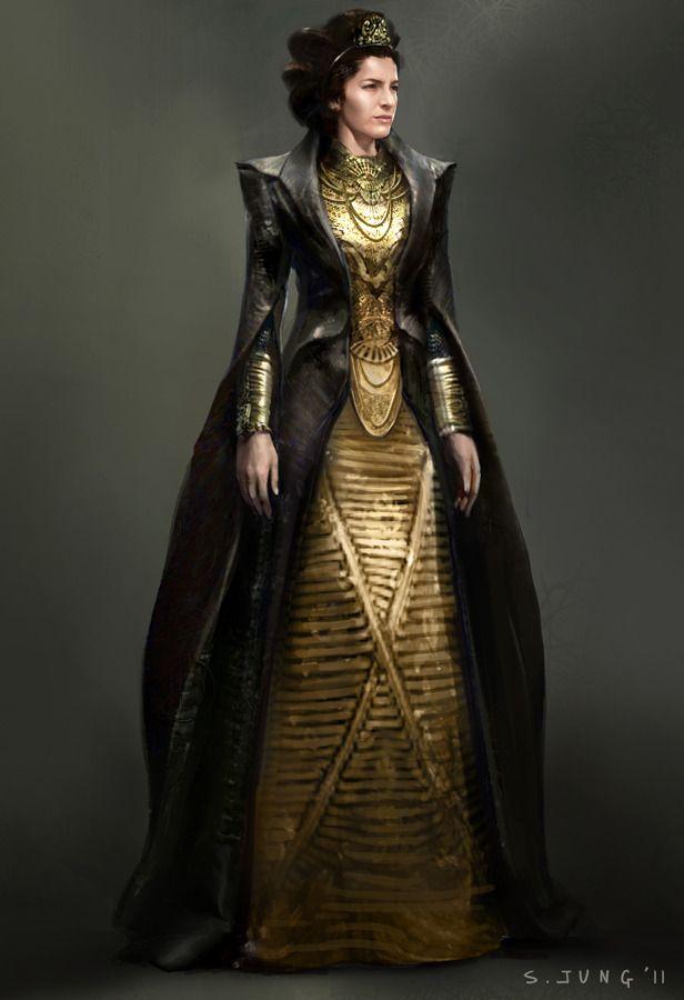 Costume illustration for lara lor van ayelet zurer by for Concept metal