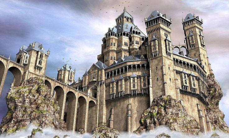 fantasy castle castles designer medieval deviantart entrance minecraft huldra drawing bridge hogwarts ten northlands map fortress gateways reference cool painting