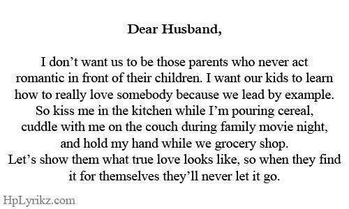 Dear Husband...