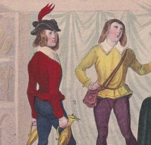 Page-Regne-Edouard-IV-1475-Pecheur-XVe-Fisherman-Costume-Royaume-Uni-UK