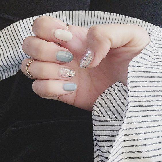 완전 특이하고 예쁜 스타일 from @ssukyung_c - #네일 #젤네일 #네일아트 #기분전환 #손스타그램 #글리터미 #일상 #소통 #nails #nailarts #instanails by gliter_me