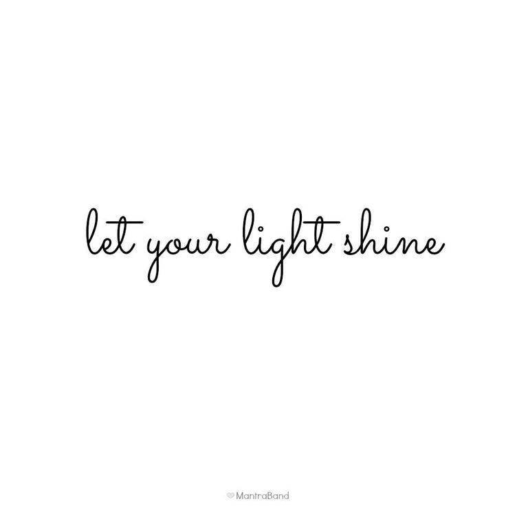 deja que tu luz brille