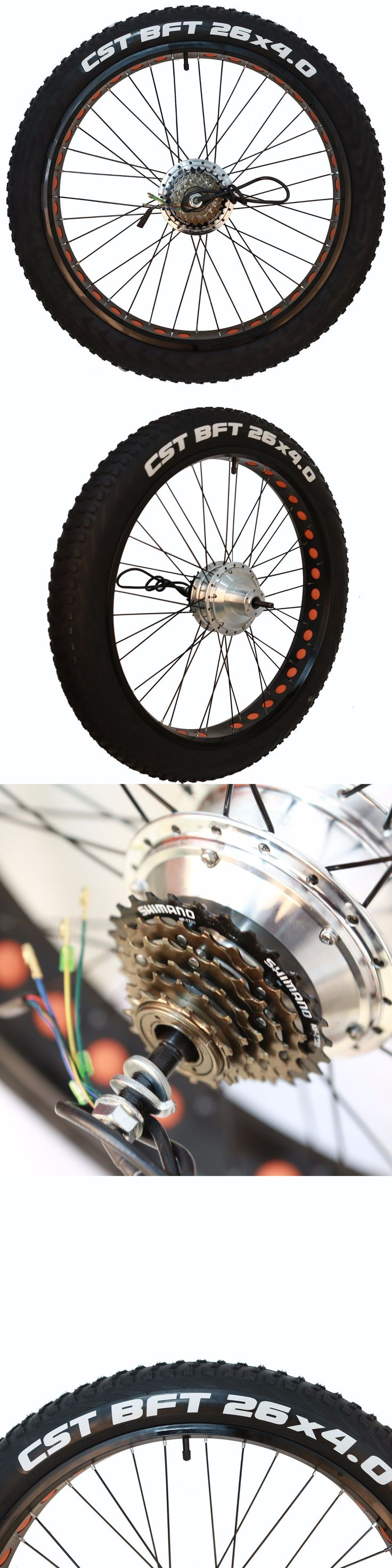 Electric Bicycles 74469: Nakto 300W Brushless 26 X 4.0 Fat Tire Rear Wheel With Motor For 26 Ebike -> BUY IT NOW ONLY: $199 on eBay!