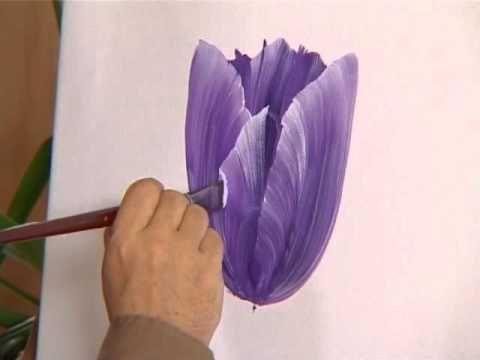 Como pintar flores - Pinceladas de Silvia Mongelos - YouTube