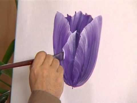 Paint Fast And Easy Tulips Youtube With Images Painting