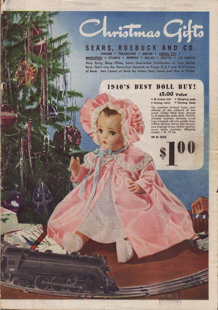 K Catalog 1940's Vintage baby do...