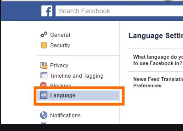 Facebook Language Settings Change Facebook Language Sunrise Language Facebook Platform Facebook Mobile App