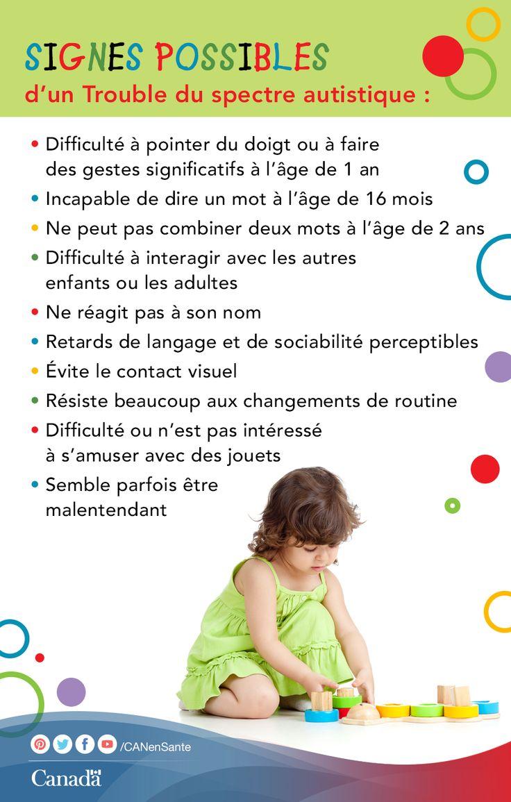 Pour en savoir plus sur les Troubles du spectre autistique (TSA) http://www.canadiensensante.gc.ca/health-sante/disease-maladie/autism-fra.php?utm_source=pinterest_hcdns&utm_medium=social&utm_content=Apr2_autism_FR&utm_campaign=social_media_14