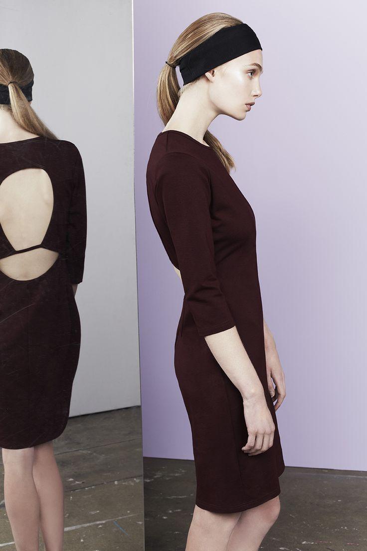 Logan slim dress with backless detail