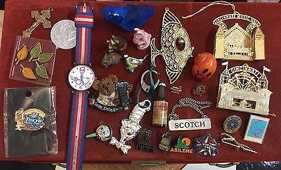 Vintage Junk Drawer A Lot Obama Watch Wade Figurine Lapel Pins