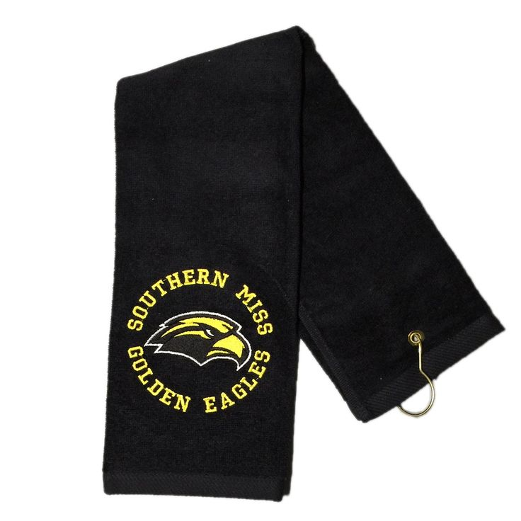 USM Southern Miss Golden Eagles Embroidered on Deluxe Tri-Fold Golf Towel
