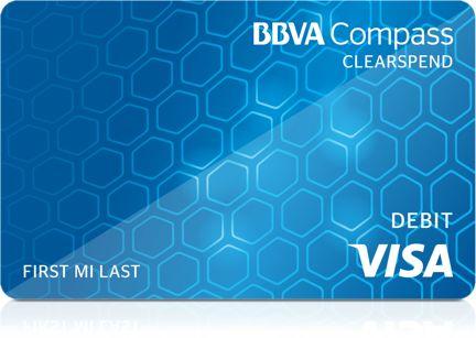 BBVA Compass ClearSpend Prepaid Visa® Card