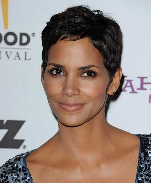 19 Halle Berry Pixie Cuts: #19. Halle Berry Fine Pixie Haircut