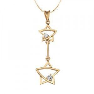 1/10 Carat Diamond Pendant on 10k Yellow Gold