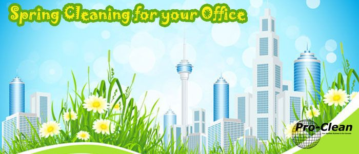 Spring cleaning tips for your office - http://www.pro-clean.ca/spring-cleaning-office/