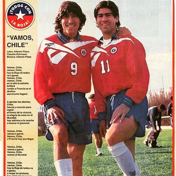 Alright lads. Zamorano and Salas via @mundialstyle #chile #footballshirtcollective